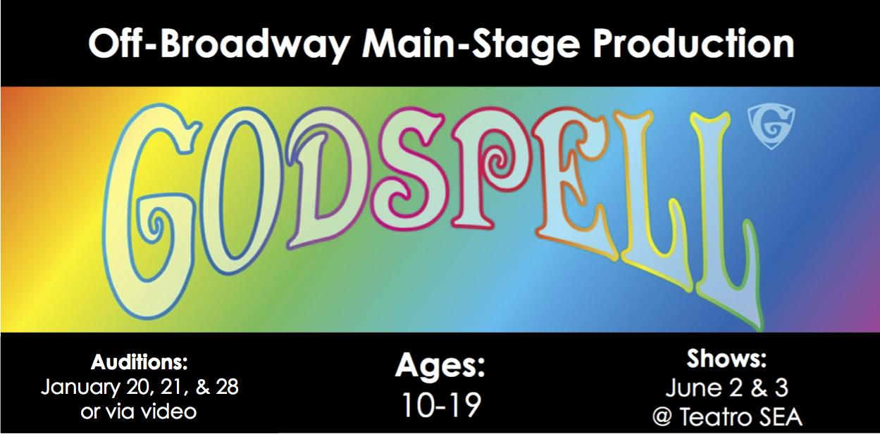 Auditions for Main Stage Production of GODSPELL! – A Class